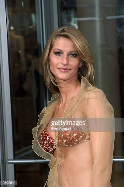 Supermodel Gisele Bundchen showsoff the $15 million 'Fantasy Bra' at the grand opening of Victoria's Secret Lincoln Centerarea store on Broadway New...