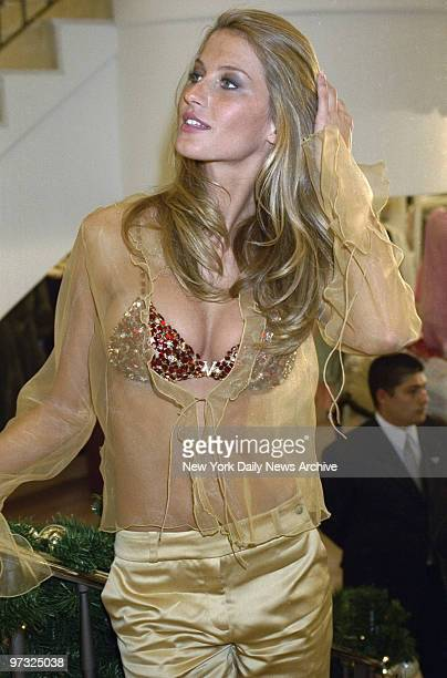 Supermodel Gisele Bundchen unveils the $15 million jeweled Fantasy Bra at the opening of a Victoria Secret shop in Lincoln CenterThe red satin bra is...