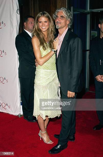 Supermodel Heidi Klum and her husband Rick Pepino arrive at GQ Magazine's 45th Anniversary Extravaganza September 4 2002 at Pressure in New York City