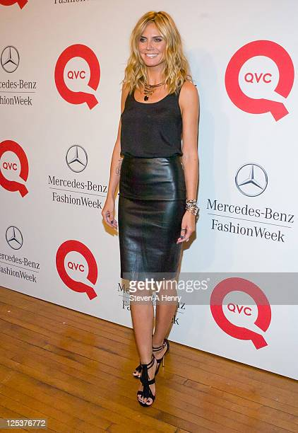 Supermodel Heidi Klum attends the QVC Fashion Week Show>> at The Suspenders Building on September 10 2011 in New York City