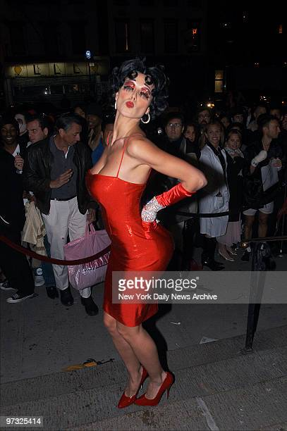 Supermodel Heidi Klum dressed as Betty Boop arrives at Capitale restaurant on the Bowery to host her annual Halloween bash