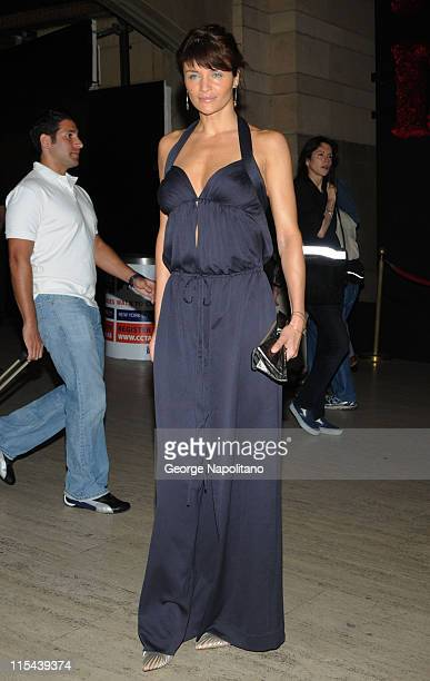 Supermodel Helena Christensen arrives at 'A Diamond Is Forever' Spring Lunch honoring Anthony Todd on May 6 2008 at Grand Central Station in New York...