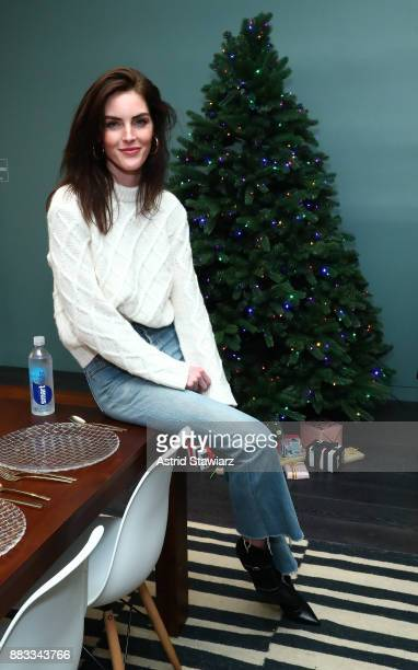 Supermodel Hilary Rhoda attends Domino Holiday Popup Shop in partnership with Home Depot and Smartwater to benefit Habitat For Humanity at 44 Mercer...