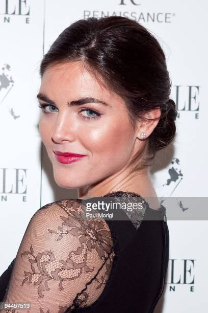 Supermodel Hilary Rhoda attends the Capitol File Holiday Party at Renaissance Mayflower Hotel on December 14 2009 in Washington DC
