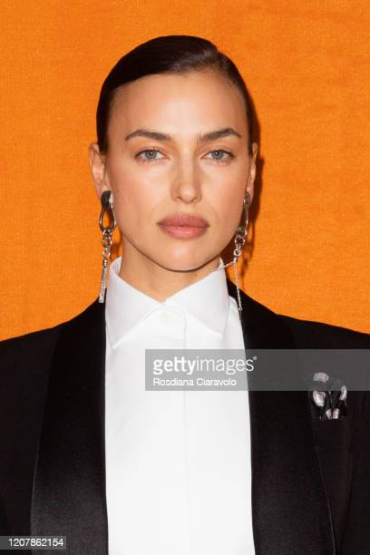 Supermodel Irina Shayk is seen backstage at the Etro fashion show on February 21, 2020 in Milan, Italy.