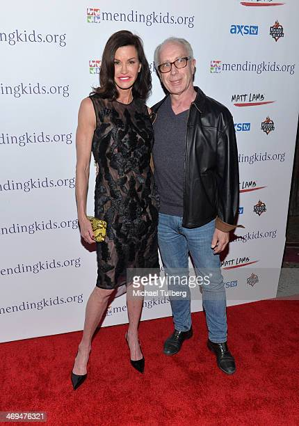 Supermodel Janice Dickinson and Dr Robert Gerner attend the Mending Kids International's Rock Roll AllStars Fundraising Event on February 14 2014 in...