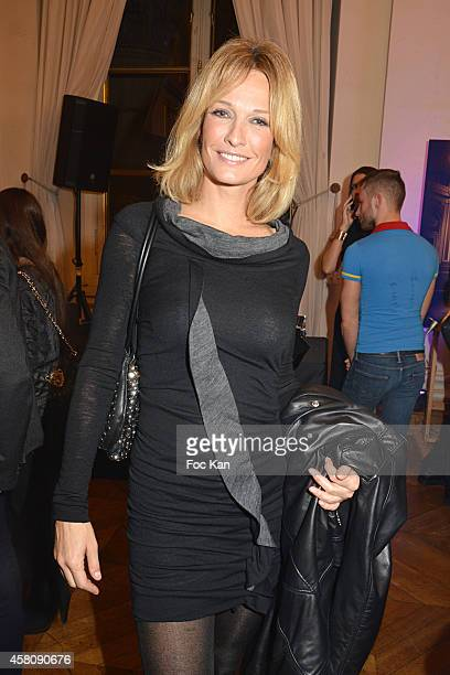 Supermodel Karen Mulder attends the Ludovic Baron Photo Exhibition Preview At Palais Brongniart on October 29 2014 in Paris France