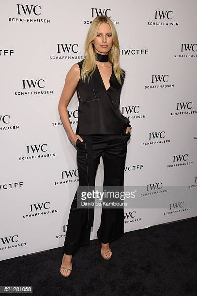 """Supermodel Karolina Kurokova attends the exclusive gala event """"For the Love of Cinema"""" during the Tribeca Film Festival hosted by luxury watch..."""