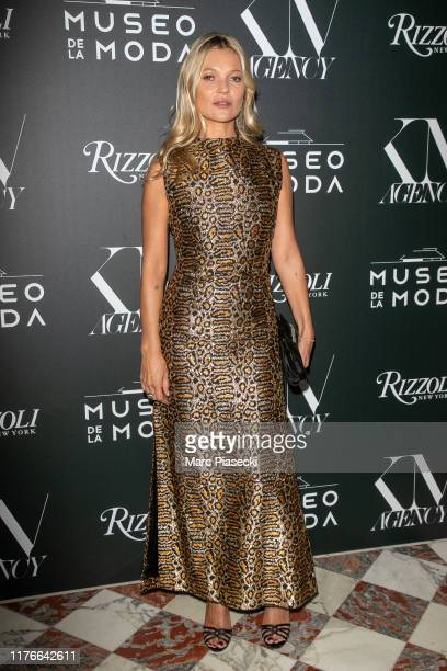 """Supermodel Kate Moss attends the """"Museo de la Moda, Musings on Fashion & Style"""" Launch Book as part of Paris Fashion Week on September 23, 2019 in..."""