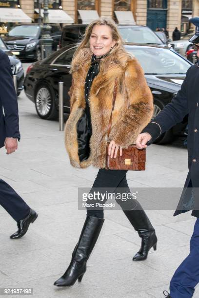 Supermodel Kate Moss is seen on February 27 2018 in Paris France