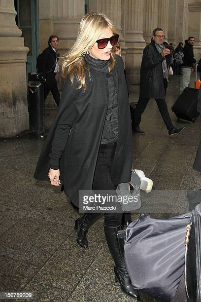 Supermodel Kate Moss is sighted at 'Gare du Nord' on November 21 2012 in Paris France