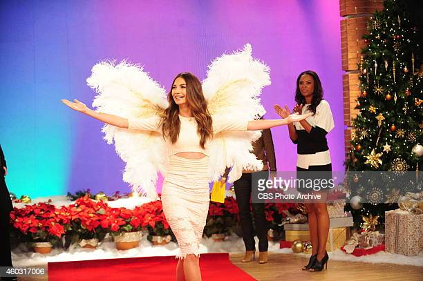 Supermodel Lily Aldridge gives a preview of 'The Victoria's Secret Fashion Show' on The Talk in New York on Monday Dec 8 2014 on the CBS Television...