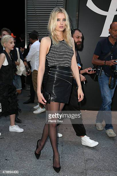Supermodel Lily Donaldson attends the Saint Laurent Menswear Spring/Summer 2016 show as part of Paris Fashion Week on June 28 2015 in Paris France