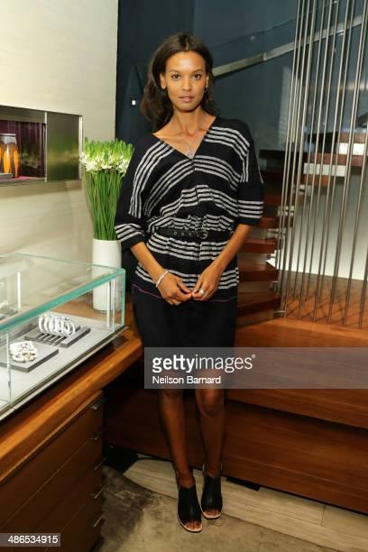 Supermodel Liya Kebede along with David Yurman host an instore event to benefit The Liya Kebede Foundation at David Yurman Townhouse on April 24 2014...