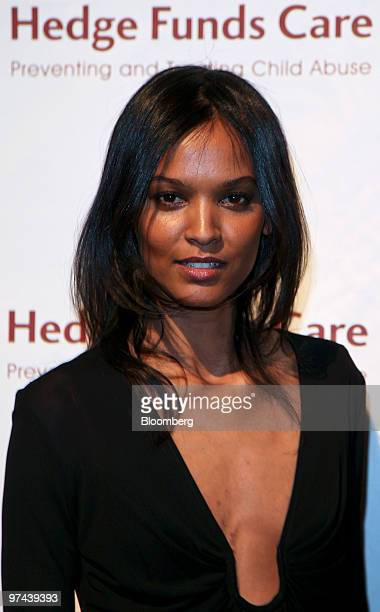 Supermodel Liya Kebede attends the Hedge Funds Care 12th Annual Open Your Heart to the Children benefit gala at Cipriani in New York US on Thursday...