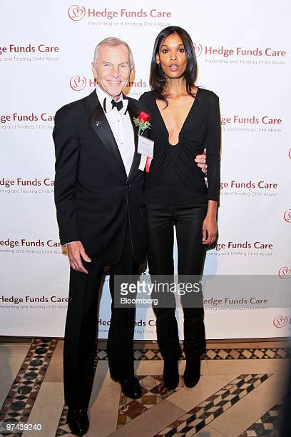 Supermodel Liya Kebede right and Rob Davis founder of Hedge Funds Care attend the Hedge Funds Care 12th Annual Open Your Heart to the Children...