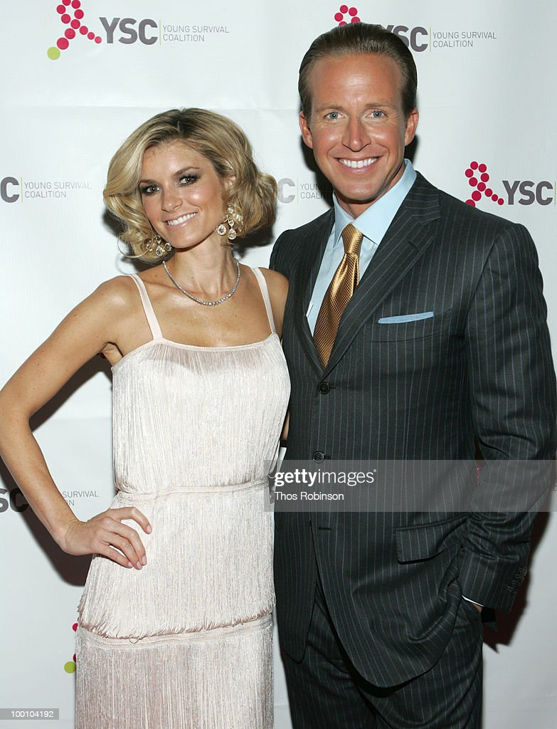 Supermodel Marisa Miller and news anchor Chris Wragge attend Young Survival Coalition Hosts 'In Living Pink' Benefit at Crimson on May 20, 2010 in New York City.
