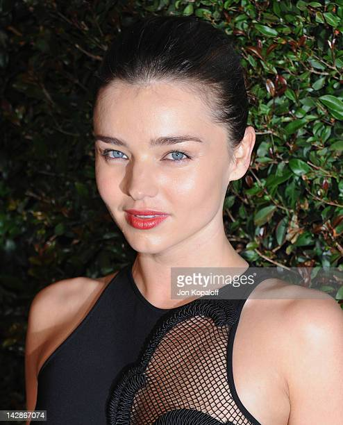 Supermodel Miranda Kerr arrives at the World Premiere of My Valentine at Stella McCartney on April 13 2012 in West Hollywood California
