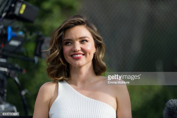 Supermodel Miranda Kerr attends 'Buick Super Bowl ad featuring the cascada and encore with football star Cam Newton and supermodel Miranda Kerr' on...