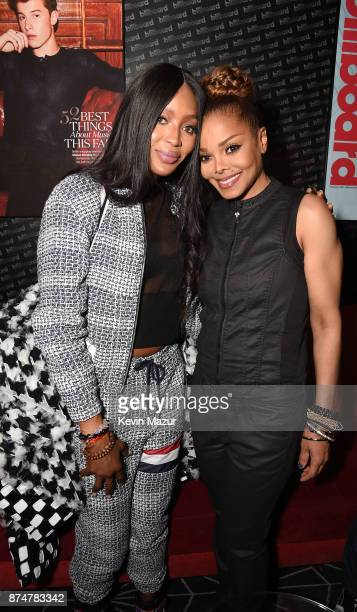 Supermodel Naomi Campbell and recording artist Janet Jackson attend Janet Jackson Barclays After Party at Barclays Center on November 15 2017 in New...