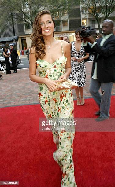 Supermodel Petra Nemcova arrives at the Opening of the Collection at Chevy Chase hosted by Capitol File Magazine May 4 in Chevy Chase Maryland