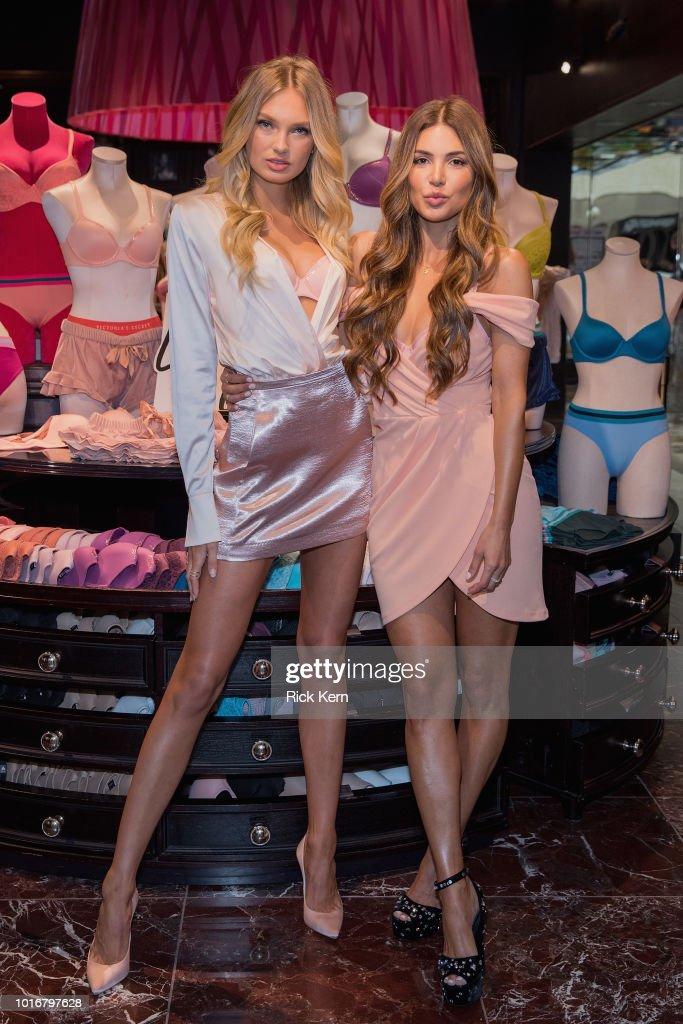 Victoria's Secret Angel Romee Strijd Celebrate Body By Victoria Launch Tour In Dallas