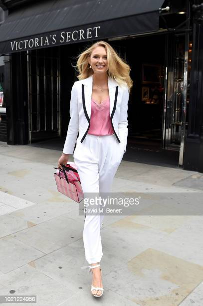 Supermodel Romee Strijd Celebrates UK Bra Fit Experts at Victoria's Secret at Victoria's Secret Bond Street on August 22 2018 in London England