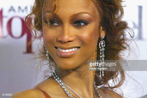 Supermodel Tyra Banks attends UPN'S 'America's Next Top Model' finale party held at the Key Club March 23 2004 in Hollywood California