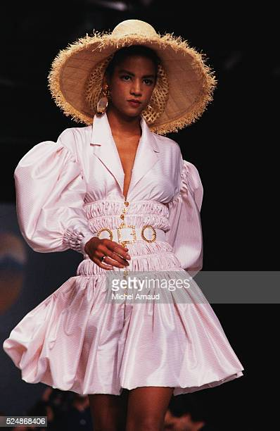 Supermodel Veronica Webb Wearing Chanel Spring Fashions