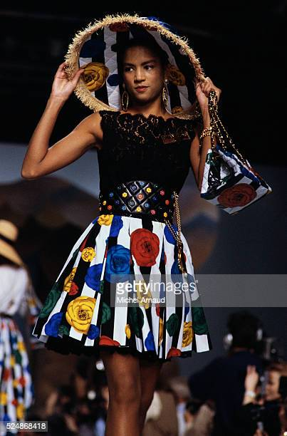 Supermodel Veronica Webb Wearing the Chanel Spring Collection