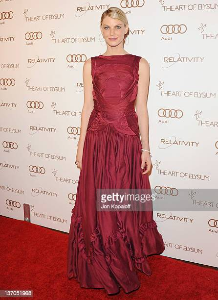 Supermodel/actress Angela Lindvall arrives at the Art Of Elysium's 5th Annual Heaven Gala at Union Station on January 14 2012 in Los Angeles...