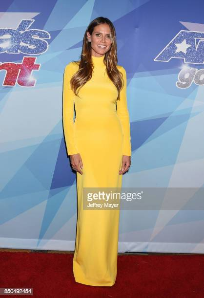SupermodelactressTV personality Heidi Klum attends NBC's 'America's Got Talent' Season 12 Finale at the Dolby Theatre on September 20 2017 in...