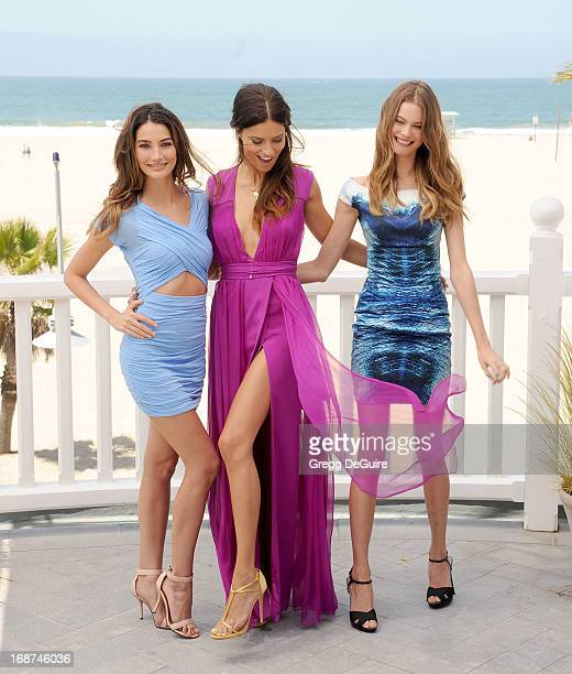 Supermodels Lily Aldridge Adriana Lima and Behati Prinsloo pose at Victoria's Secret Angels 8th Annual 2013 What Is Sexy List at Shutters On The...