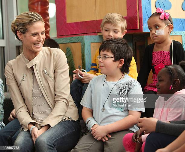 Supermodel/supermom Heidi Klum hosts a Joke Off with the kids at Children's Hospital Los Angeles for her Lifetime series Seriously Funny Kids held on...