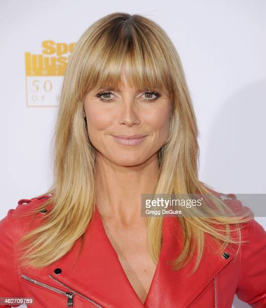 Supermodel/TV personality Heidi Klum arrives at the 50th Anniversary Celebration Of Sports Illustrated Swimsuit Issue at Dolby Theatre on January 14...