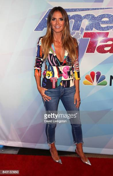 Supermodel/TV personality Heidi Klum attends NBC's America's Got Talent Season 12 live show at Dolby Theatre on September 5 2017 in Hollywood...