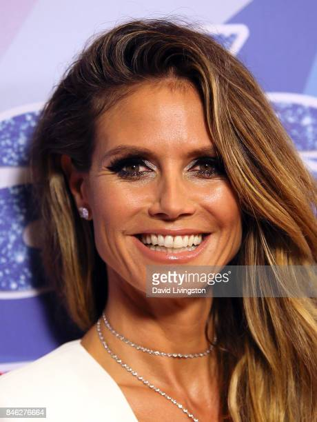 Supermodel/TV personality Heidi Klum attends NBC's America's Got Talent Season 12 live show at Dolby Theatre on September 12 2017 in Hollywood...