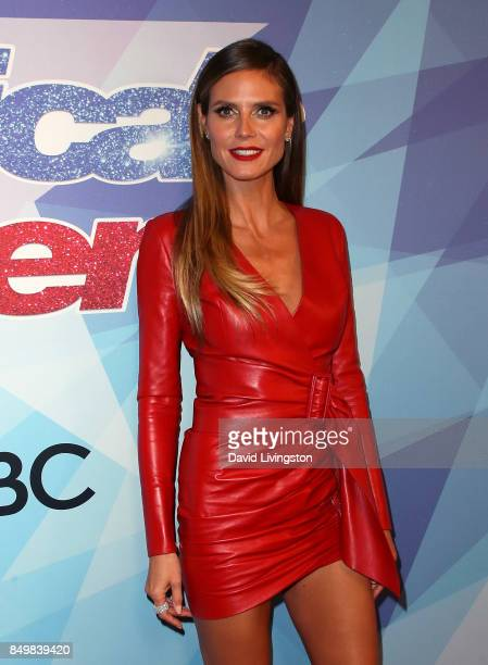 Supermodel/TV personality Heidi Klum attends NBC's America's Got Talent Season 12 Finale Week at Dolby Theatre on September 19 2017 in Hollywood...