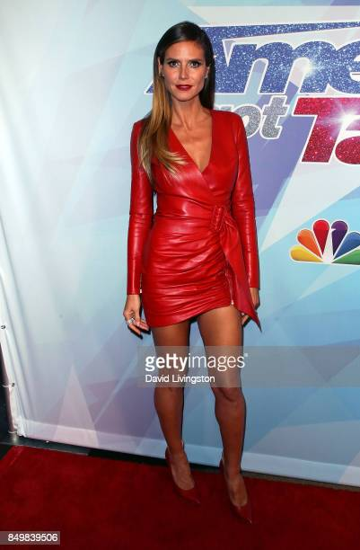Supermodel/TV personality Heidi Klum attends NBC's 'America's Got Talent' Season 12 Finale Week at Dolby Theatre on September 19 2017 in Hollywood...