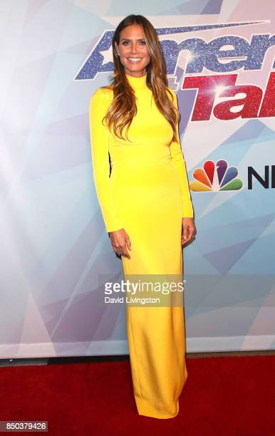Supermodel/TV personality Heidi Klum attends NBC's 'America's Got Talent' season 12 finale at Dolby Theatre on September 20 2017 in Hollywood...