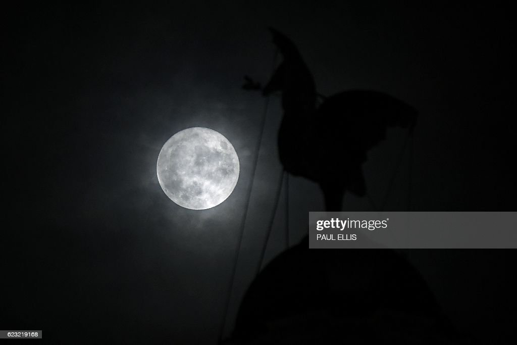 BRITAIN-SCIENCE-ASTRONOMY-MOON-PHENOMENON : News Photo
