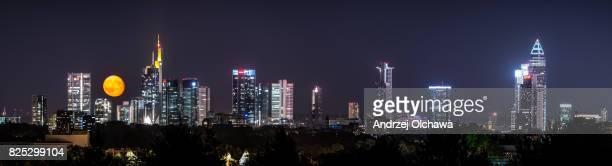 Supermoon over Frankfurt