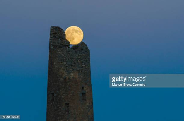 supermoon - castellon province stock pictures, royalty-free photos & images