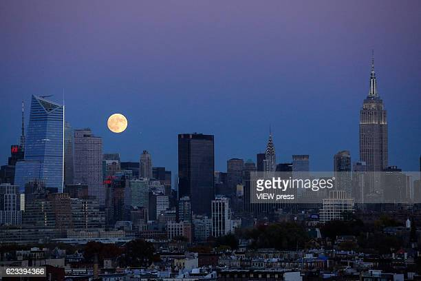 A supermoon rises over New York City on November 13 2016 The supermoon will venture to its closest point in 68 years leaving only 221524 miles...