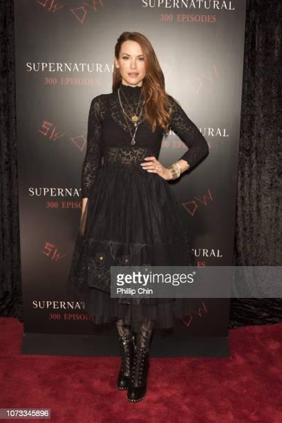 Supernatural Actor Danneel Ackles attends the red carpet at the SUPERNATURAL 300TH Episode Celebration at the Pratt Hall on November 16 2018 in...
