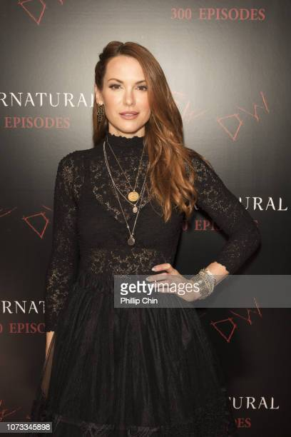 Supernatural Actor Danneel Ackles attends the red carpet at the SUPERNATURAL 300TH Episode Celebration at the Pratt Hall on November 16 2018 in...
