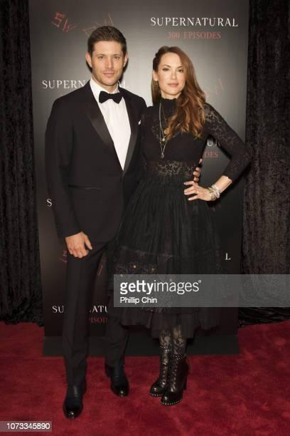 Supernatural Actors Jensen Ackles and Danneel Ackles attend the red carpet at the SUPERNATURAL 300TH Episode Celebration at the Pratt Hall on...