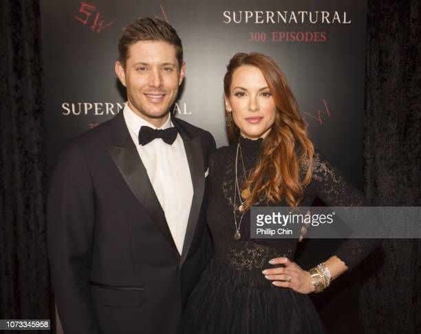 Supernatural Actors Jensen Ackles and Danneel Ackles attend the red carpet at the SUPERNATURAL 300TH Episode Celebration at the Pratt Hall on...