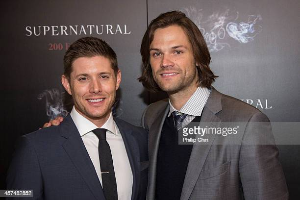 Supernatural actors Jensen Ackles and Jared Padalecki attend the Supernatural 200th episode celebration at the Fairmont Pacific Rim Hotel on October...