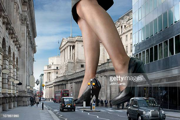 supersize businesswoman - giants stock photos and pictures